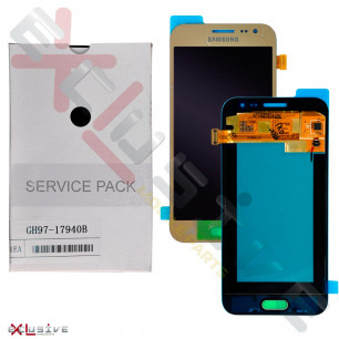 Дисплей Samsung J200 | J200H Galaxy J2 duos GH97-17940B (SERVICE PACK ORIGINAL) с тачскрином Gold
