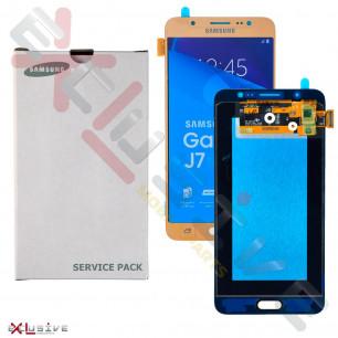 Дисплей Samsung J710 Galaxy J7 2016 GH97-18855A (SERVICE PACK) с тачскрином Gold