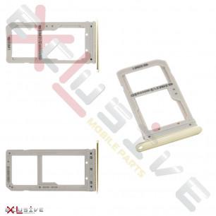 Держатель SIM-карты Samsung G935FD Galaxy S7 Edge Duos, Gold