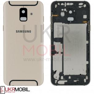 Задняя крышка Samsung A600 Galaxy A6, Original, Gold