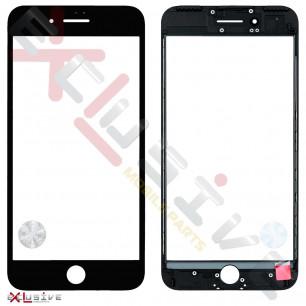 Стекло дисплея с рамкой и пленкой OCA Apple iPhone 7 Plus, Original, Black