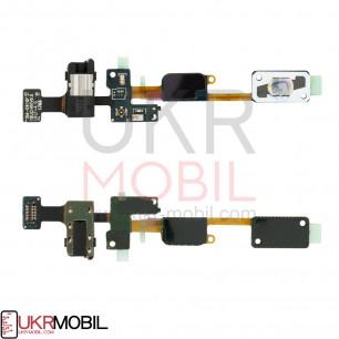 Шлейф Samsung G610 Galaxy J7 Prime, кнопки меню, коннектора наушников, с компонентами