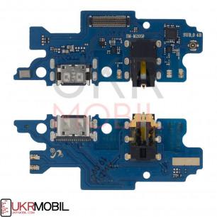 Шлейф Samsung M205 Galaxy M20, с разъемом зарядки, гарнитуры, Original