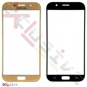 Стекло дисплея Samsung A720 Galaxy A7 2017, Gold