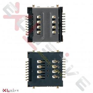 Коннектор sim карты Lenovo A520, A580, A690, A780, A800, A890, P90, S560, S660, S720, S850, S850E, Jiayu G2S