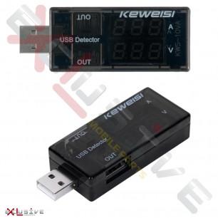 Амперметр-вольтметр USB Keweisi