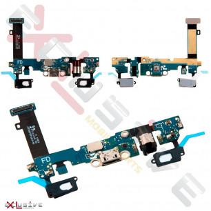 Шлейф Samsung A710 Galaxy A7 Duos с разъемом зарядки, гарнитуры, с микрофоном Original