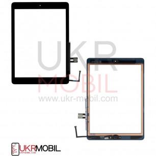 Сенсор (тачскрин) Apple iPad 2018 (A1893, A1954), с кнопкой HOME, Original, Black