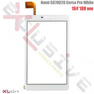 Сенсор (тачскрин) Nomi C070020 Corsa Pro, (p|n: 70A23), размер: 184mm*108mm, White