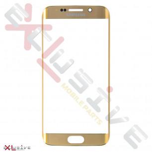 Стекло дисплея Samsung G925 Galaxy S6 Edge, Gold