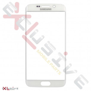 Стекло дисплея Samsung G925 Galaxy S6 Edge, White