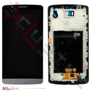 Дисплей LG D855 Optimus G3 с тачскрином, рамкой Black
