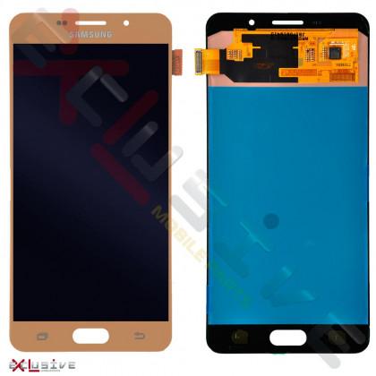 Дисплей Samsung A710H Galaxy A7 2016, OLED, с тачскрином, Gold - ukr-mobil.com