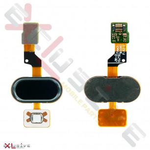 Шлейф Meizu M3s Y685, с кнопкой Home, Black, Original