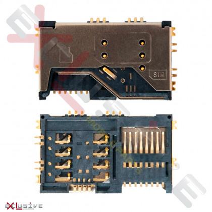 Коннектор sim карты Lenovo A60   A65   A789   P70   P700i - ukr-mobil.com