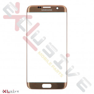 Стекло дисплея Samsung G935 Galaxy S7 Edge, Original, Gold