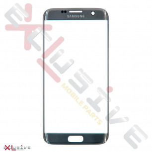 Стекло дисплея Samsung G935 Galaxy S7 Edge, Silver, Original