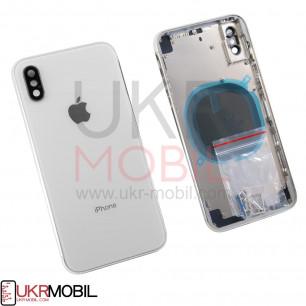 Корпус Apple iPhone X, задняя крышка со стеклом камеры, в сборе, Original PRC, White
