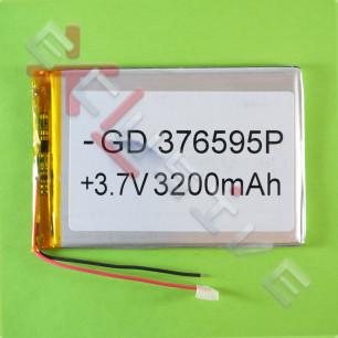 Аккумулятор для планшета 3.7*65*95 мм, (3200 mAh)
