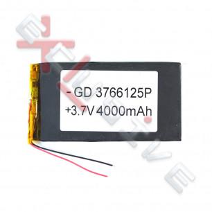 Аккумулятор для планшета 3.7*66*125мм / 4000 mAh