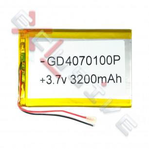 Аккумулятор для планшета 4.0*70*102мм / 3200 mAh