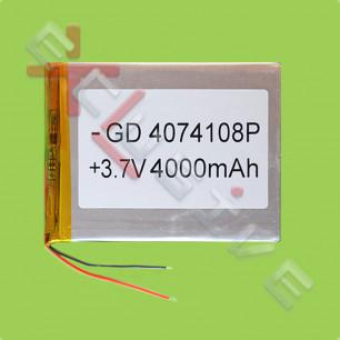 Аккумулятор для планшета 4.0*74*108мм / 4000 mAh