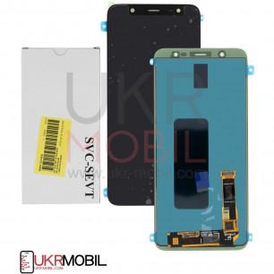 Дисплей Samsung J810 Galaxy J8 2018, GH97-22145A, (SERVICE PACK ORIGINAL)  с тачскрином Black
