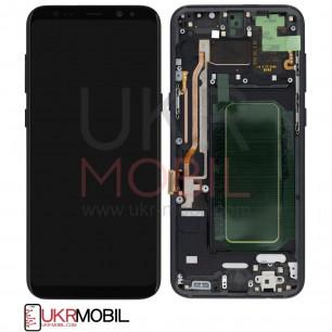 Дисплей Samsung G955 Galaxy S8 Plus, с тачскрином, с рамкой, Original PRC, Black