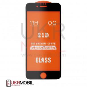 Защитное стекло Apple iPhone 6, 6S, Full Glue 2.5D, Black