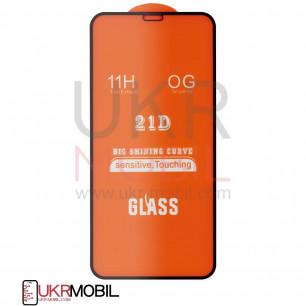 Защитное стекло Apple iPhone X, iPhone XS, Full Glue 2.5D, Black