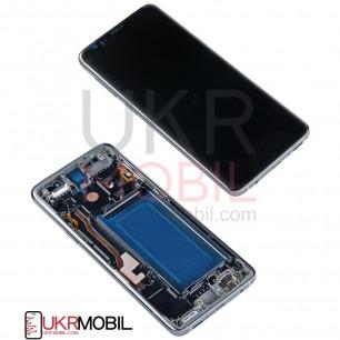 Дисплей Samsung G960 Galaxy S9, с тачскрином, рамкой, Original PRC, Titanium Grey