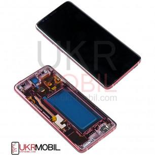 Дисплей Samsung G960 Galaxy S9, с тачскрином, рамкой, Original PRC, Burgundy Red