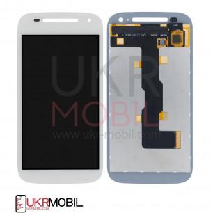 Дисплей Motorola XT1505 Moto E2, XT1511 Moto E2, XT1526 Moto E2, XT1527 Moto E2, XT1528 Moto E2, с тачскрином, White