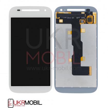 Дисплей Motorola XT1505 Moto E2, XT1511 Moto E2, XT1526 Moto E2, XT1527 Moto E2, XT1528 Moto E2, с тачскрином, White - ukr-mobil.com