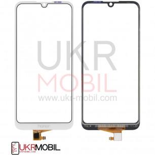 Сенсор (тачскрин) Huawei Y6 2019 (MRD-LX1, MRD-LX3), Y6 Prime 2019, Y6 Pro 2019, White