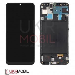 Дисплей Samsung A305 Galaxy A30 2019, с тачскрином, рамкой, Original PRC, Black