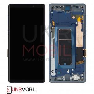 Дисплей Samsung N960 Galaxy Note 9, Original, с тачскрином, рамкой, Blue