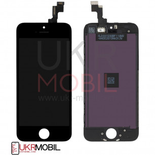 Дисплей Apple iPhone 5S, iPhone 5SE, с тачскрином, Original PRC, Black
