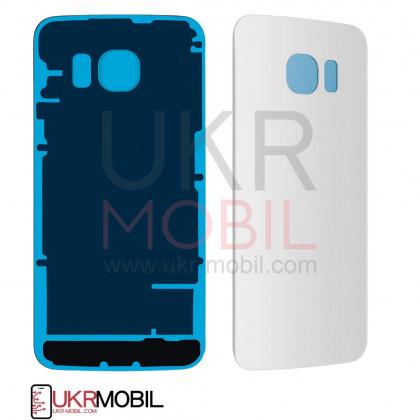 Задняя крышка Samsung G925 Galaxy S6 Edge, High Copy, White - ukr-mobil.com