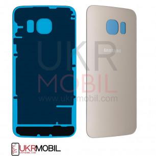 Задняя крышка Samsung G925 Galaxy S6 Edge, High Copy, Gold