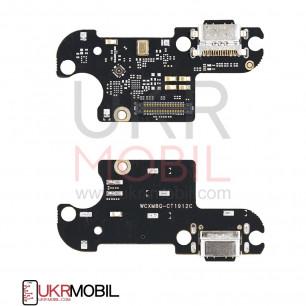 Шлейф Xiaomi Mi 8 Lite, нижняя плата с разъемом зарядки, микрофоном