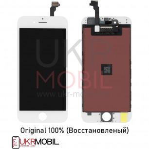Дисплей Apple iPhone 6, с тачскрином, Original (Восстановленый), White