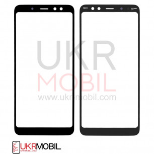 Стекло дисплея Samsung A530 Galaxy A8 2018, Original, Black