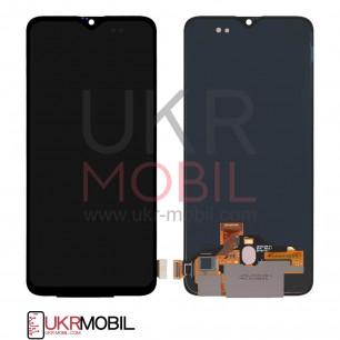 Дисплей OnePlus 6T, с тачскрином, Original, Black