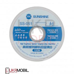 Проволка для отделения стекла от дисплея Sunshine SS-051, D=0,03 mm, L=100 m, (молибденовая)