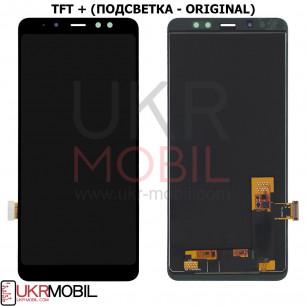 Дисплей Samsung A730 Galaxy A8 Plus 2018, с тачскрином, TFT (с регулируемой подсветкой), Black