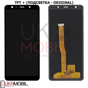 Дисплей Samsung A750 Galaxy A7 2018, с тачскрином, TFT (с регулируемой подсветкой), Black