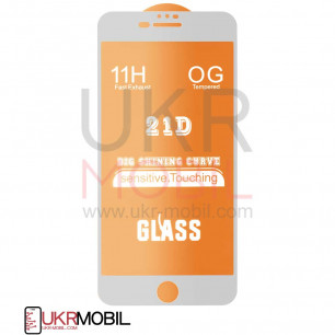 Защитное стекло Apple iPhone 7 Plus, iPhone 8 Plus, Full Glue 2.5D, White