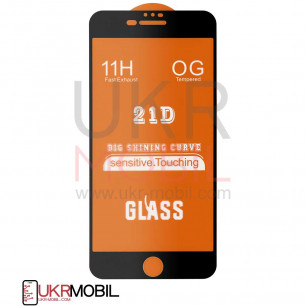 Защитное стекло Apple iPhone 7 Plus, iPhone 8 Plus, Full Glue 2.5D, Black