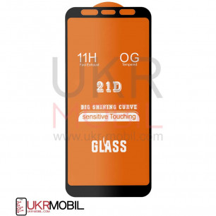 Защитное стекло Samsung A605 Galaxy A6 Plus 2018, Full Glue 2.5D, Black